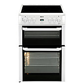 Beko BDVC664W Double Oven Electric Cooker with Ceramic Hob in White