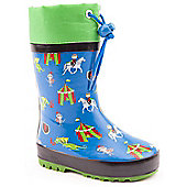 Brantano Boys Knights Blue Wellington Boots - Blue