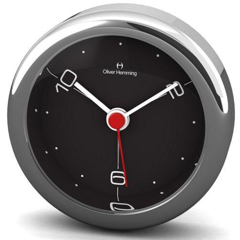 Oliver Hemming Alloy Desire Alarm Clock - White - 5.8cm