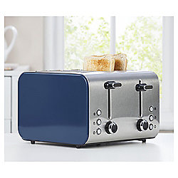 Tesco 4Tssib15 Blue 4 Slice Toaster