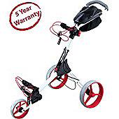 Big Max Mens IQ+ 3 Wheel Golf Trolley in White & Red 2014 Model