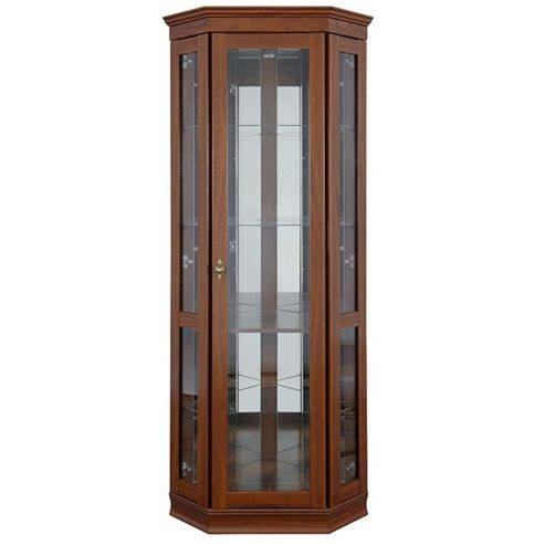 Caxton Lincoln Cradenza Corner Display Cabinet in Cherry