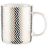 Tesco Platinum Zig-Zag Print Mug, Single