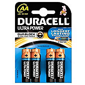 Duracell AA LR6 Alkaline Security Batteries (Pack of 4)