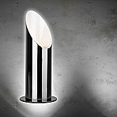 Modern Table / Floor Uplighter Lamp in Black Chrome