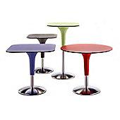 Rexite Zanziplano Square Table - 80cm x 80cm x 75cm - Red