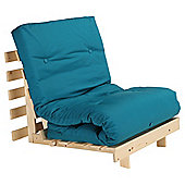 Helsinki Pine Single Futon With Mattress Teal