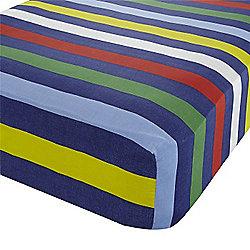 Multi Coloured Striped Single Sheet 200 Thread Count