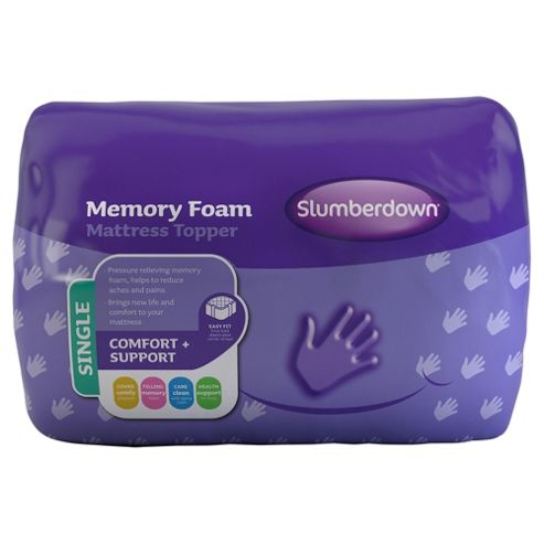 buy slumberdown memory foam single mattress topper from. Black Bedroom Furniture Sets. Home Design Ideas