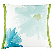 Water Colour Daisy Cushion Green