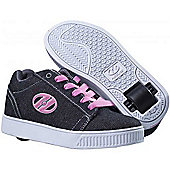 Heelys Straight Up Pink/Charcoal/White Heely Shoe - Pink