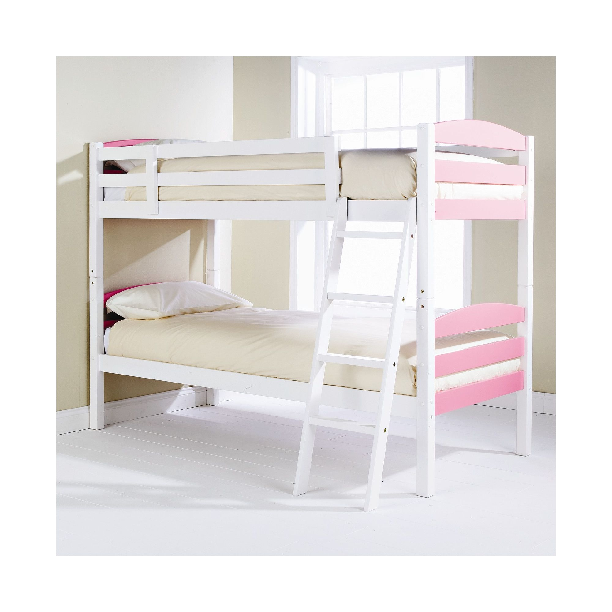 Elements Childrens Bunk Bed - Pink / White at Tescos Direct