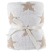 Tesco Chenille Blanket, Cream