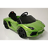 Kids Electric Car Lamborghini Aventador 6 Volt Green Gloss