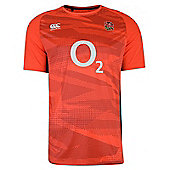 Canterbury England Rugby RFU Superlight Poly Tee - Red Spark - Red