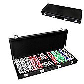 World Series Of Poker Casino Poker Chips 500 Set W/ Leather Case + Dice
