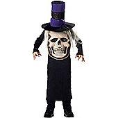 Child Skull Mad Hatter Costume Medium