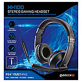 XH-100 WIRED STEREO HEADSET (BLACK/BLUE) (PS4) (2/24)