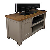 Aspen Painted Sage Grey Small Oak TV Unit / Oak TV Stand