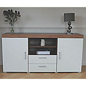 Grove 2 Door 2 Drawer Sideboard TV Cabinet White (1pf Large 1 PF48)