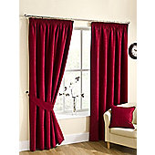 Ribeiro Chenille Pencil Pleat Curtains - Wine