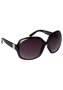 F&F Gold Trim Square Oversized Sunglasses
