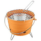 Tesco Small  Charcoal Bucket BBQ - Orange