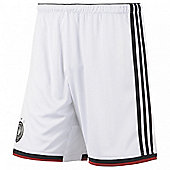2014-15 Germany Home World Cup Football Shorts - White