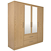 GFW Manhattan 4 Door Wardrobe
