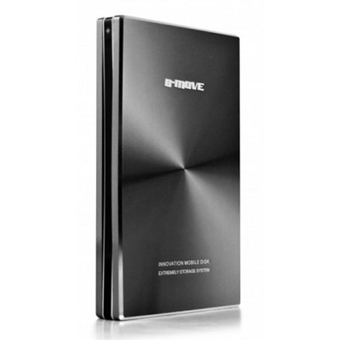 B-MOVE Shelter Colors 2.5 Inch Aluminium External SATA HDD Enclosure, Supports Max. 1TB, USB 2.0, Black BM-HDB01T