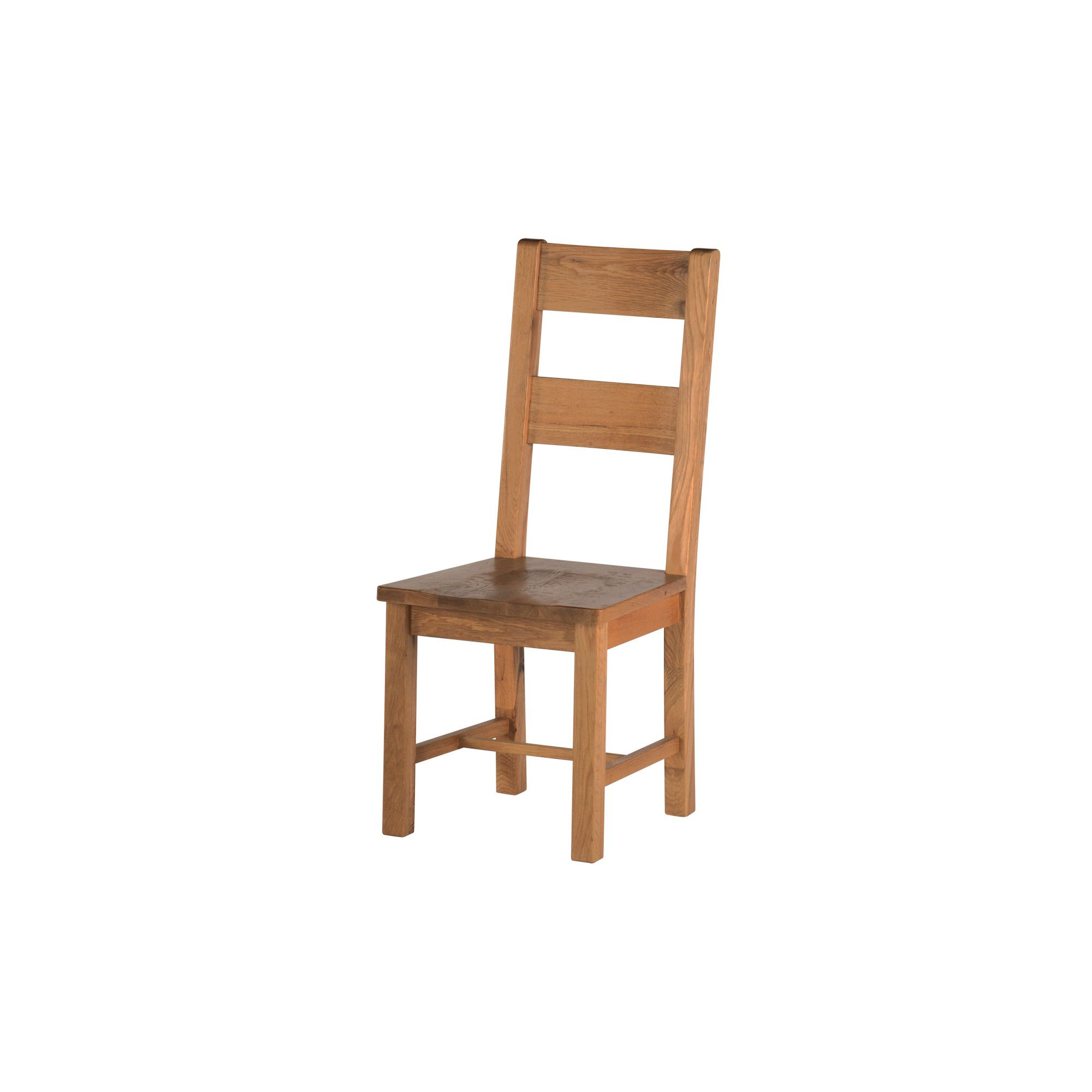 Thorndon Sandown Dining Chair with Wooden Seat in Rustic Oak