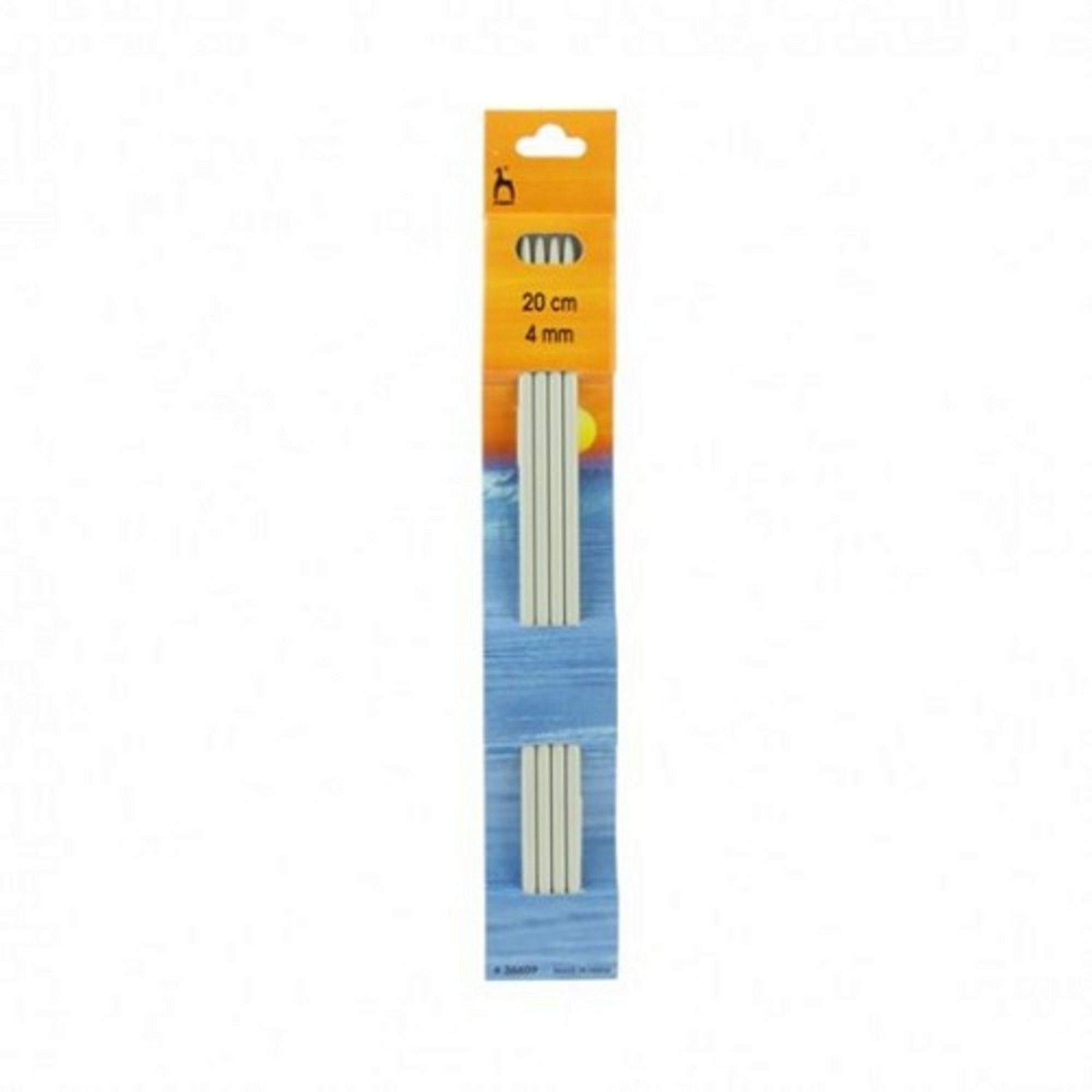 4 Pack of Knitting Needles 20cm x 4mm