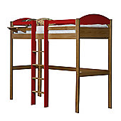 Maximus High Sleeper Central Ladder Antique With Red Details
