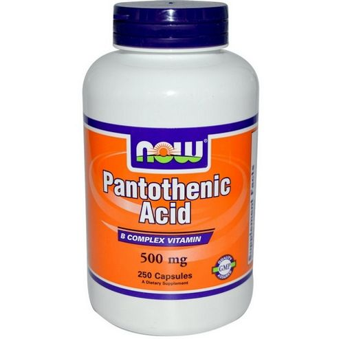Now Pantothenic Acid 500 mg 100 Capsules