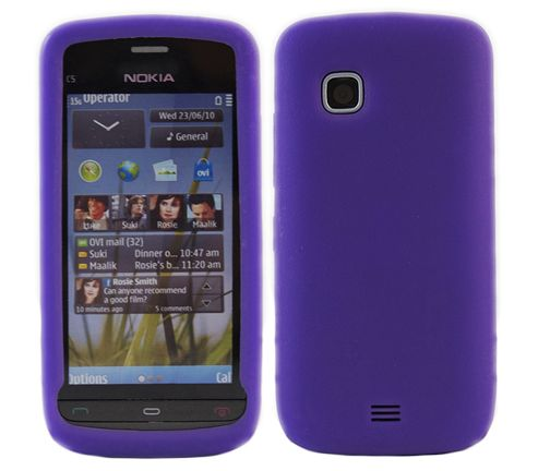 iTALKonline SoftSkin Silicone Case Purple - For Nokia C503