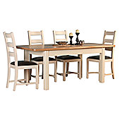 Altruna Rayleigh 5 Piece Dining Set - Natural