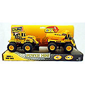 New Bright 5 inch 4x4 Monster Muscle Twin Pack - Loader and Dump Truck - Toys/Games