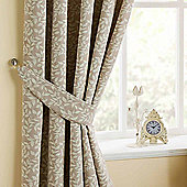 Homescapes Natural Curtains Tie Backs Pair Trailing Leaf Design