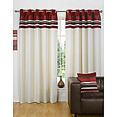 Dreams n Drapes Kendal Red 90x90 Eyelet Lined Eyelet Curtains