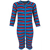 Merino All In One Toddlers Base Layer Childrens Baselayer Suit - Blue