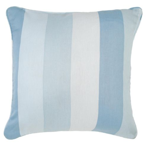 Tesco Cushions Hampton Stripe Cushion, Duck Egg