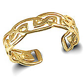 Jewelco London 9ct Solid Gold fancy style Toe Ring