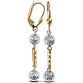 Jewelco London 9ct Yellow and White Gold Drops