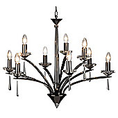 Stylish Ceiling Pendant Light in Shiny Black with Adjustable Chain