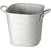 Parlane Large Zinc Grey Plant Pot / Planter - 19 x 20cm