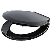 Tesco Basic Plastic Toilet Seat, Black