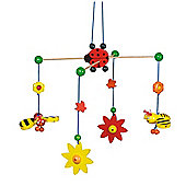 Heimess 760150 Wooden Mobile (Ladybird, Bee and Flower)