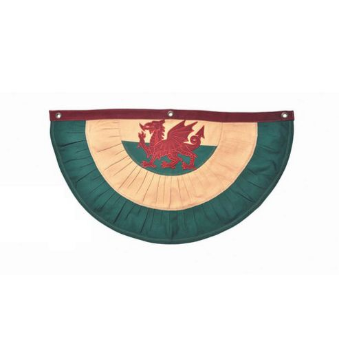 Woven Magic Wales Flag Patriotic Duck Swag Bunting