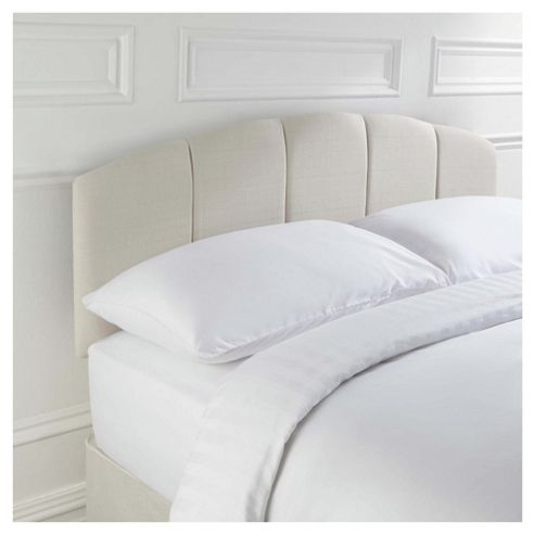 Seetall Padstow Headboard Linen Effect Cream Double
