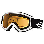 Smith Optics Cascade Air Ski Goggles, White/Gold lite
